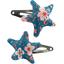 Star hair-clips fleuri nude ardoise - PPMC