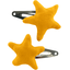 Star hair-clips yellow ochre - PPMC