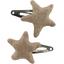 Star hair-clips gold linen - PPMC