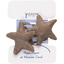Star hair-clips copper linen - PPMC