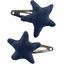 Star hair-clips navy blue