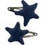 Star hair-clips navy blue - PPMC