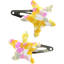 Star hair-clips mimosa jaune rose - PPMC