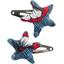 Star hair-clips flowered night - PPMC