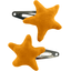 Star hair-clips ochre - PPMC
