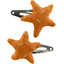 Star hair-clips caramel golden straw - PPMC