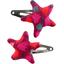 Star hair-clips pompons cerise - PPMC