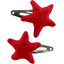 Star hair-clips red