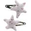 Star hair-clips triangle cuivré gris - PPMC