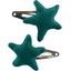 Star hair-clips emerald green - PPMC