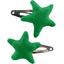 Star hair-clips bright green - PPMC