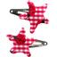 Pasador de pelo estrella cuadros vichy rojo y mariquitas - PPMC