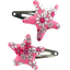 Star hair-clips pink violette - PPMC