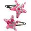 Barrettes clic-clac étoile violette rose - PPMC