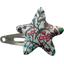 barrette clic-clac étoile fleur mentholé - PPMC