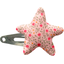 Star hair-clips mini pink flower - PPMC