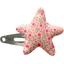barrette clic-clac étoile mini fleur rose - PPMC