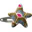barrette clic-clac étoile palmette - PPMC