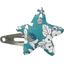 barrette clic-clac étoile violette céladon - PPMC