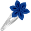 Star flower hairclip navy blue - PPMC