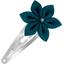 Barrette clic-clac fleur étoile bleu vert - PPMC
