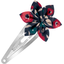 Barrette clic-clac fleur étoile camelias rubis - PPMC
