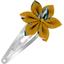 Barrette clic-clac fleur étoile etoile anisée - PPMC