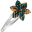 Star flower hairclip eventail or vert - PPMC