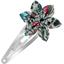 Barrette clic-clac fleur étoile fleur mentholé - PPMC