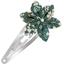 Barrette clic-clac fleur étoile fleuri kaki - PPMC