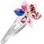 Barrette clic-clac fleur étoile herbier rose - PPMC
