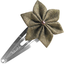 Star flower hairclip gold linen - PPMC
