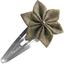 Barrette clic-clac fleur étoile lin or