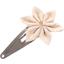 Barrette clic-clac fleur étoile  lin pailleté - PPMC