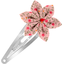 Star flower hairclip mini pink flower - PPMC