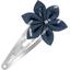 Barrette clic-clac fleur étoile paille argent jean - PPMC