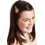 Barrette clic-clac fleur étoile paille dorée caramel