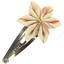 Star flower hairclip silver pink striped - PPMC