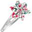 Barrette clic-clac fleur étoile  roseraie - PPMC