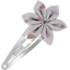 Star flower hairclip triangle cuivré gris