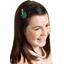 Barrette clic-clac fleur étoile vert vif