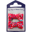 Small bows hair clips cherry cornflower - PPMC