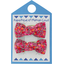 Small bows hair clips currant crocus - PPMC
