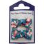 Barrettes clic-clac petits noeuds fleuri nude ardoise - PPMC