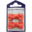 Small bows hair clips gaze dentelle corail - PPMC