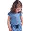 Barrettes clic-clac petits noeuds jean fin