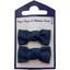 Barrettes clic-clac petits noeuds bleu marine - PPMC