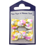 Small bows hair clips mimosa jaune rose - PPMC