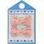 Small bows hair clips mini pink flower - PPMC