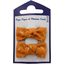 Small bows hair clips caramel golden straw - PPMC